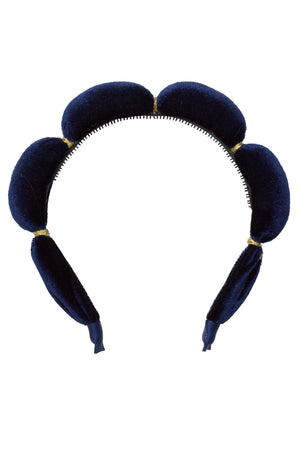 Jasmin Headband - Navy Velvet - PROJECT 6, modest fashion