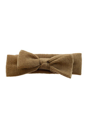 Knitted Bow Wrap - Camel - PROJECT 6, modest fashion