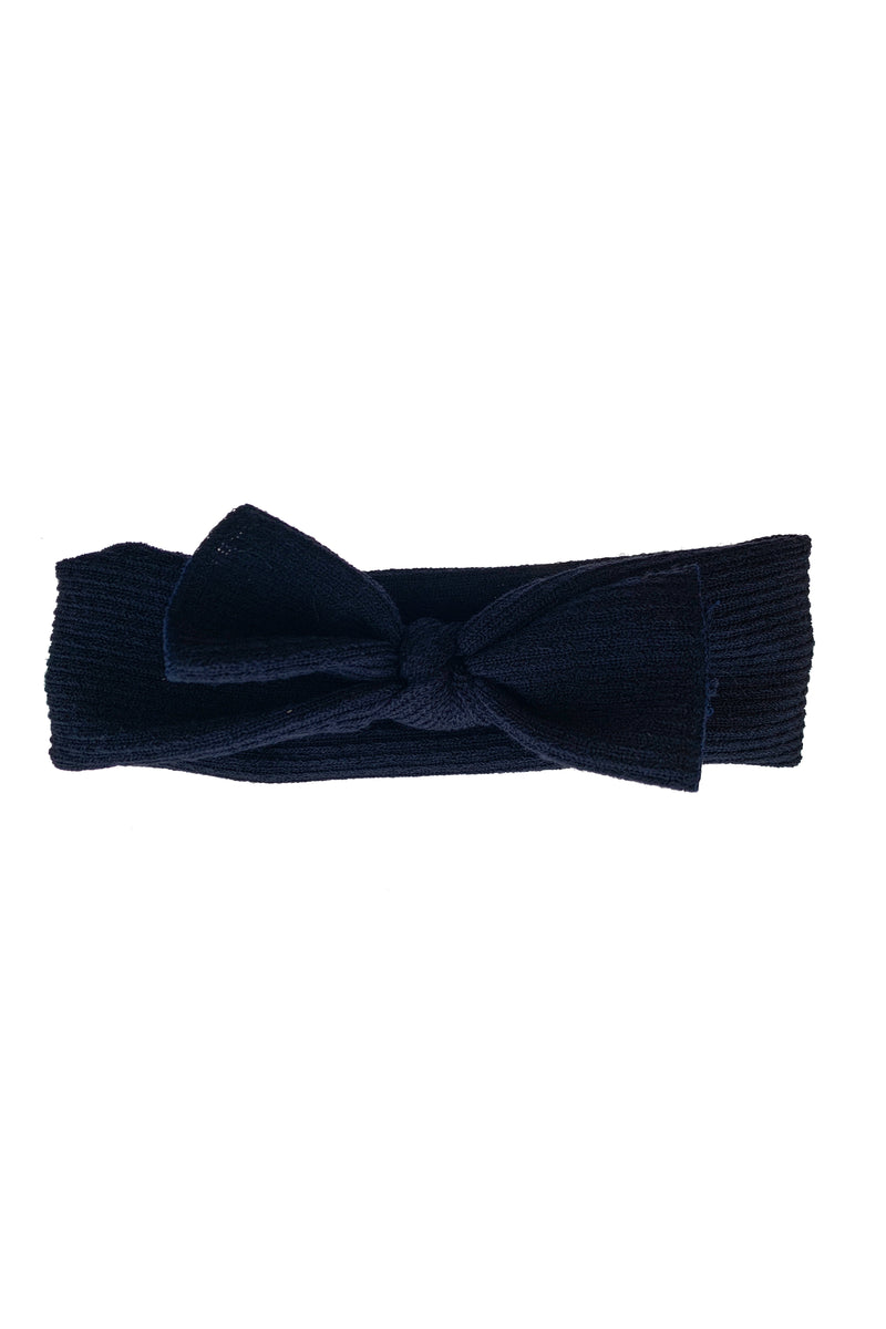 Knitted Bow Wrap - Navy - PROJECT 6, modest fashion