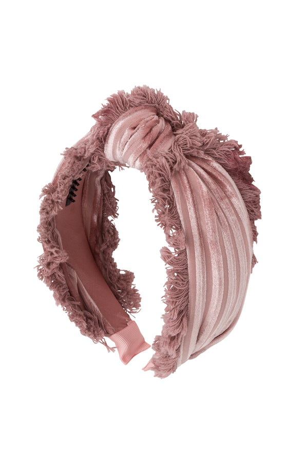 Knot Fringe Headband - Light Rose - PROJECT 6, modest fashion