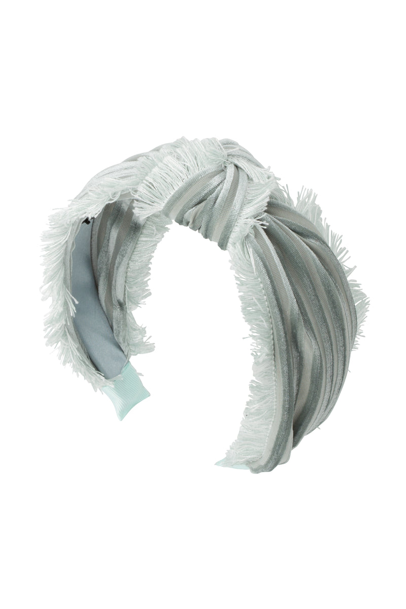Knot Fringe Headband - Mint Green - PROJECT 6, modest fashion