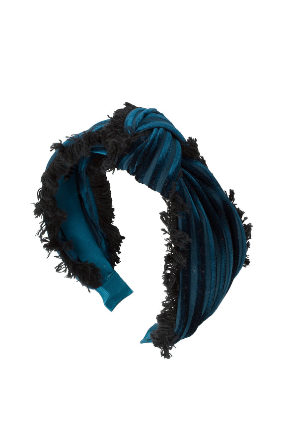 Knot Fringe Headband - Teal - PROJECT 6, modest fashion