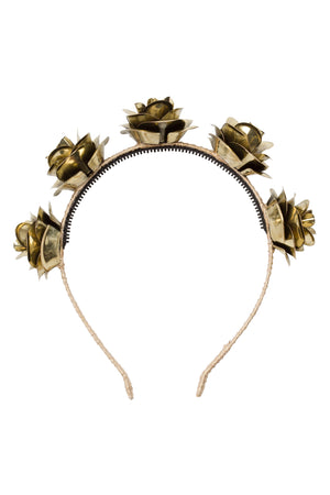 Lonely Roses Headband - Gold