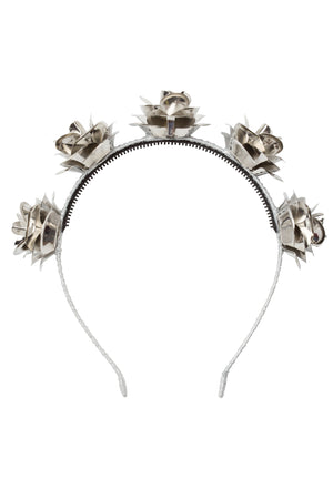 Lonely Roses Headband - Silver - PROJECT 6, modest fashion
