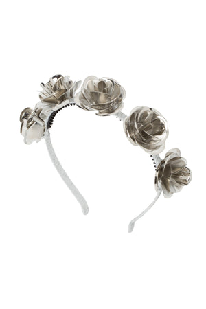 Lonely Roses Headband - Silver