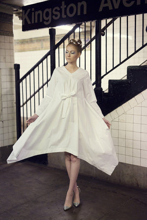 Botan - White Poplin - PROJECT 6, modest fashion