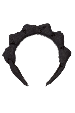 Monkey Bars Headband - Black Denim - PROJECT 6, modest fashion