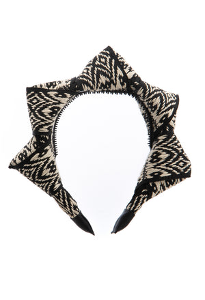Mountain Queen Headband - Black/Ivory - PROJECT 6, modest fashion