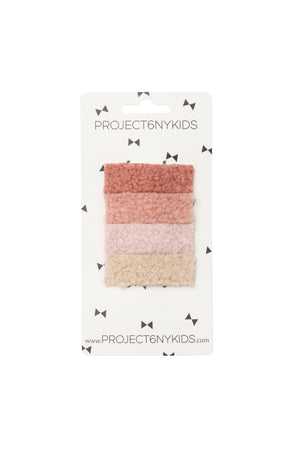 Olly Log Clips Set of 4 - Pink Set - PROJECT 6, modest fashion