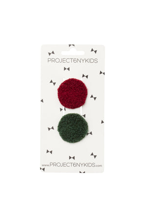 Olly Rounds Set of 2 - Burgundy and Hunter Green