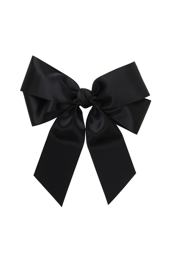 Oversized Bow Pony/Clip - Black - PROJECT 6, modest fashion