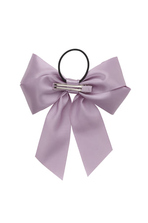 Oversized Bow Pony/Clip - Fresco