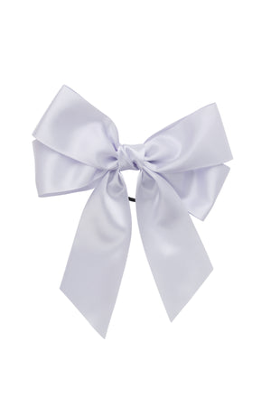 Oversized Bow Pony/Clip - Lilac