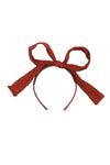 Party Bow Taffeta - Rust