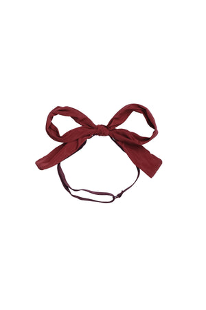 Party Bow Taffeta Wrap - Brick