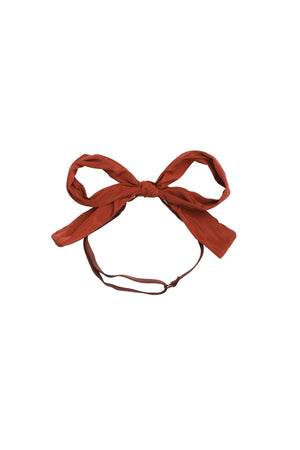 Party Bow Taffeta Wrap - Rust