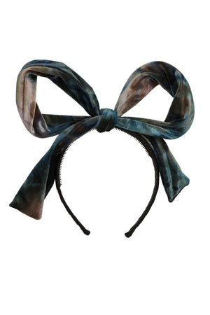 Party Bow - Blush/Aqua/Navy Velvet - PROJECT 6, modest fashion