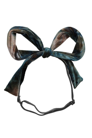 Party Bow Wrap - Blush/Aqua/Navy Velvet - PROJECT 6, modest fashion