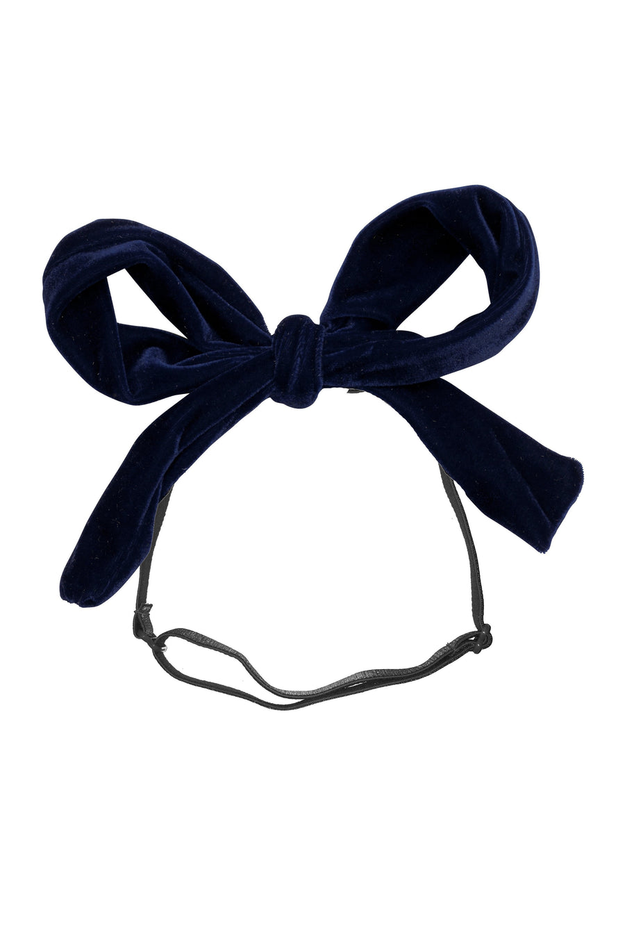 Party Bow Wrap - Navy Velvet - PROJECT 6, modest fashion