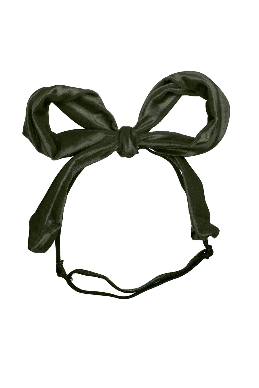 Party Bow Wrap - Olive Velvet - PROJECT 6, modest fashion