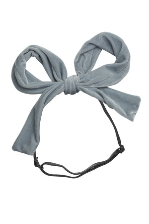 Party Bow Wrap - Pale Blue Velvet - PROJECT 6, modest fashion