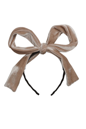 Party Bow - Light Sand Velvet - PROJECT 6, modest fashion