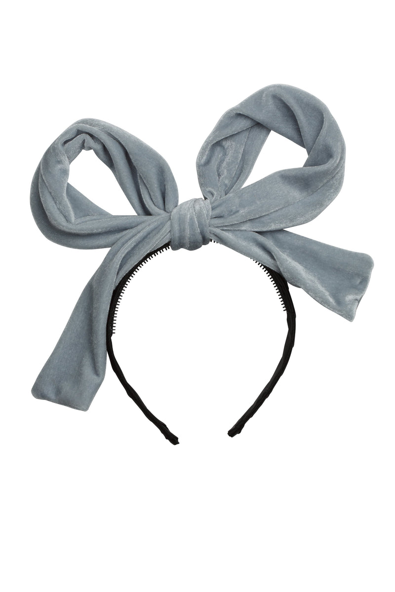Party Bow - Pale Blue Velvet - PROJECT 6, modest fashion