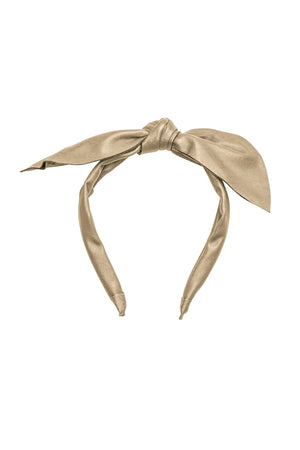 Perfect Leather Pointy Bow Headband - Gold - PROJECT 6, modest fashion