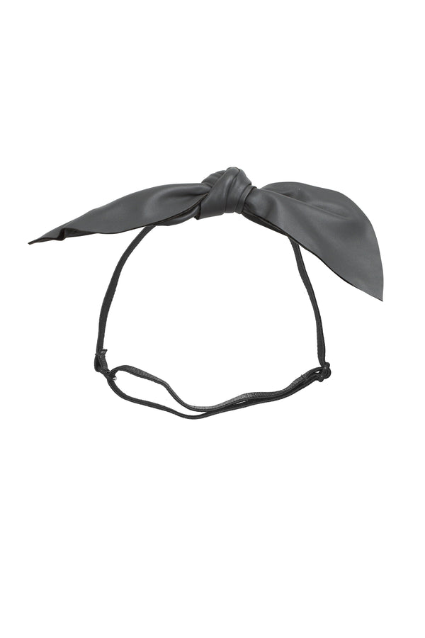 Perfect Leather Pointy Bow Wrap - Grey - PROJECT 6, modest fashion