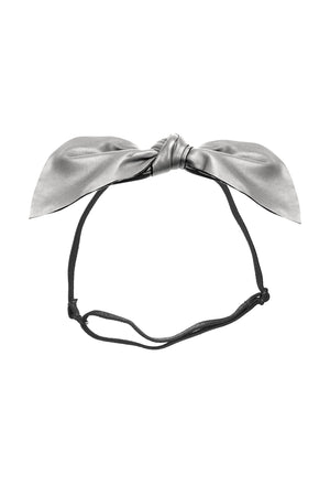 Perfect Leather Pointy Bow Wrap - Silver - PROJECT 6, modest fashion