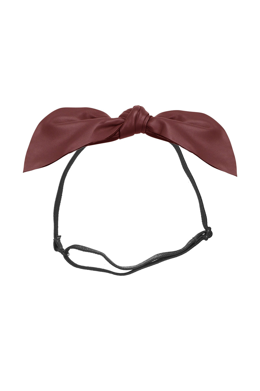 Perfect Leather Pointy Bow Wrap - Burgundy - PROJECT 6, modest fashion