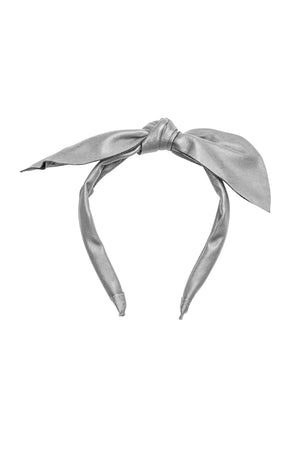 Perfect Leather Pointy Bow Headband - Silver - PROJECT 6, modest fashion
