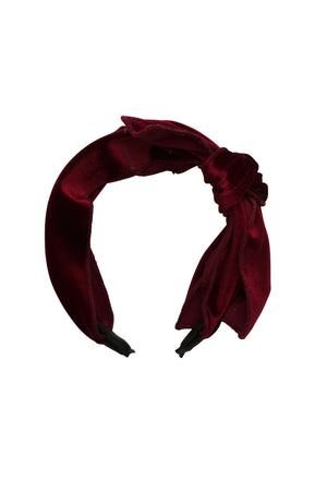 Playful Bow - Burgundy Velvet - PROJECT 6, modest fashion