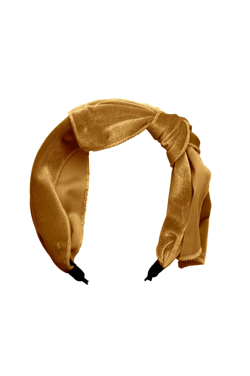 Playful Bow - Gold Velvet - PROJECT 6, modest fashion