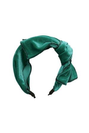 Playful Bow - Jewel Tone Green Velvet - PROJECT 6, modest fashion