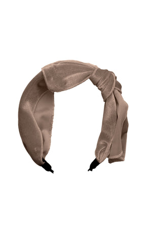 Playful Bow - Light Sand Velvet - PROJECT 6, modest fashion