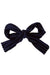 Party Bow Clip - Navy Velvet Stripe - PROJECT 6, modest fashion
