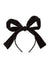 Party Bow Headband - Black Velvet Stripe - PROJECT 6, modest fashion