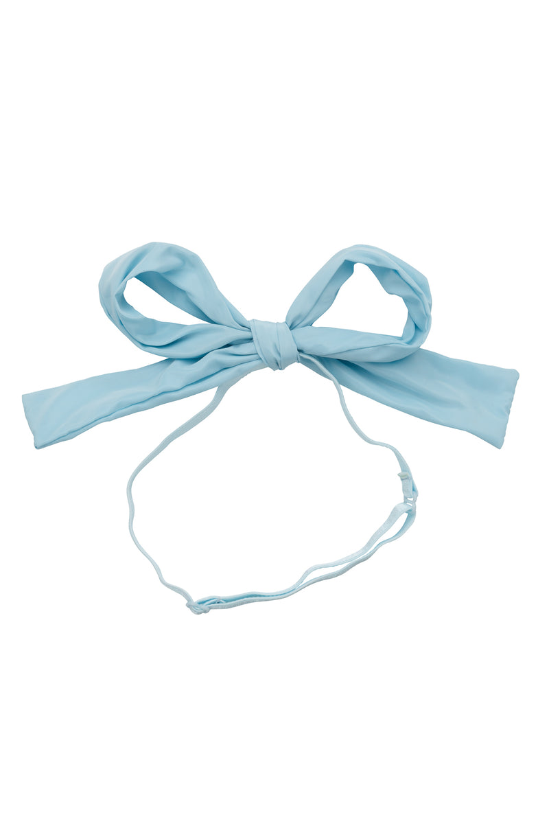 Party Bow Taffeta Wrap - Light Sky - PROJECT 6, modest fashion