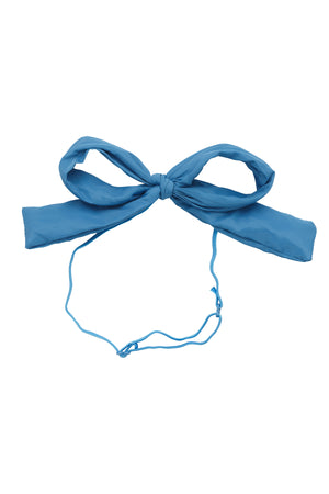 Party Bow Taffeta Wrap - Blue Sky