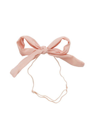 Party Bow Taffeta Wrap - Blush