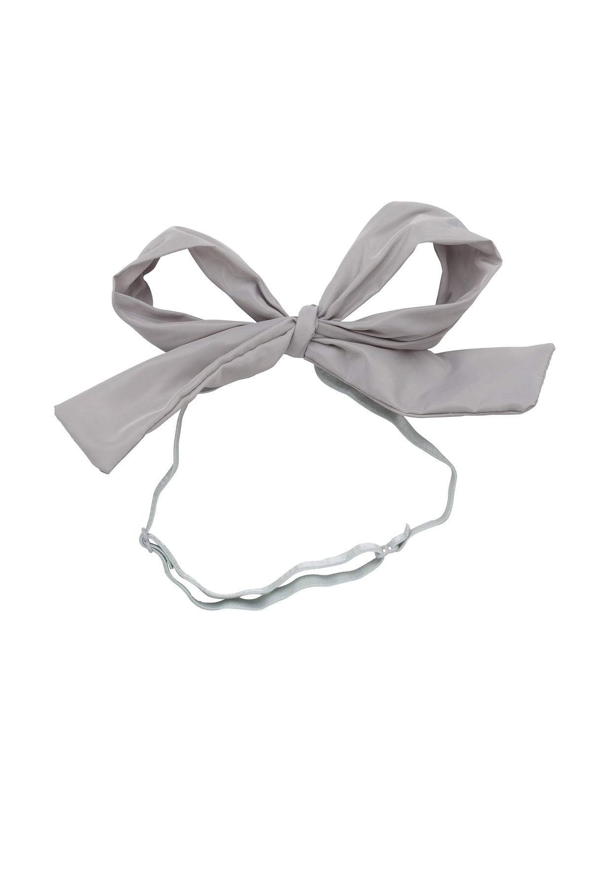 Party Bow Taffeta Wrap - Light Grey - PROJECT 6, modest fashion