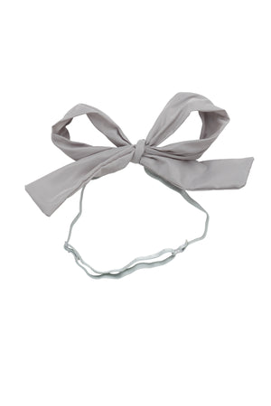 Party Bow Taffeta Wrap - Light Grey