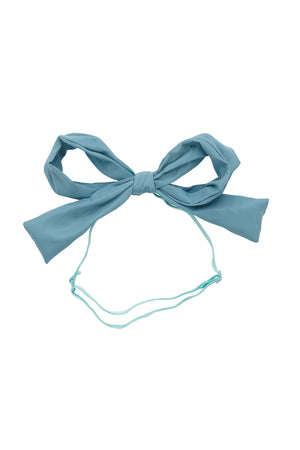 Party Bow Taffeta Wrap - Light Turquoise