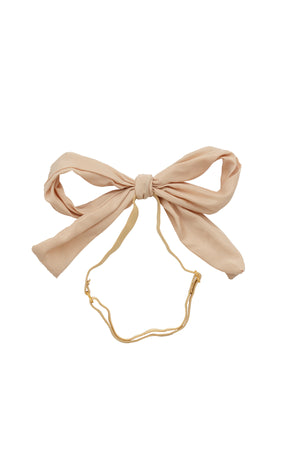 Party Bow Taffeta Wrap - Taupe - PROJECT 6, modest fashion