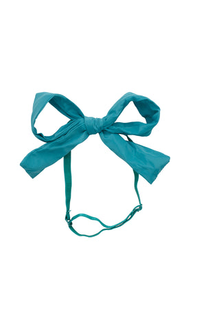 Party Bow Taffeta Wrap - Teal - PROJECT 6, modest fashion