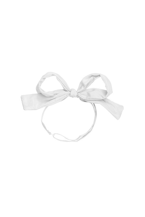 Party Bow Taffeta Wrap - White - PROJECT 6, modest fashion