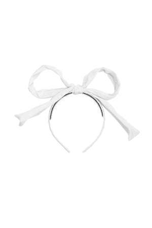 Party Bow Taffeta - White - PROJECT 6, modest fashion