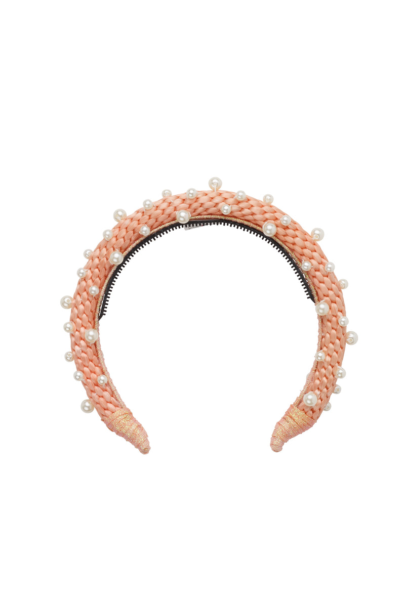 Pearl Queen Headband - Rose - PROJECT 6, modest fashion