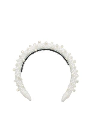 Pearl Queen Headband - Dove White - PROJECT 6, modest fashion